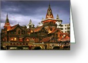 Shanghai China Greeting Cards - A Fairytale - Eric Moller Villa Shanghai Greeting Card by Christine Till - CT-Graphics
