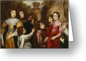 Van Dyke Greeting Cards - A Family Group Greeting Card by Sir Anthony van  Dyck