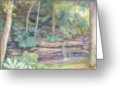 Giclee Pastels Greeting Cards - A Favorite Place Greeting Card by Penny Neimiller
