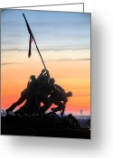 Veterans Day Greeting Cards - A Few Good Men Greeting Card by JC Findley