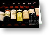 Wine Art Digital Art Greeting Cards - A fine selection Greeting Card by David Lee Thompson