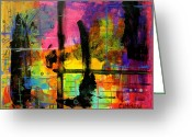 Oil Pastel Greeting Cards - A Fleeting Thought Greeting Card by Teddy Campagna