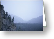 "\""colorado Resort\\\"" Greeting Cards - A Foggy, Rainy Day In The Rocky Greeting Card by Taylor S. Kennedy"