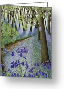 Violet Greeting Cards - A Fresh Start Greeting Card by Pat Scott