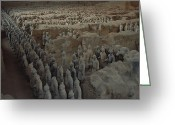 Qin Shi Huang Greeting Cards - A Garrison Of Some 1,400 Terracotta Greeting Card by O. Louis Mazzatenta