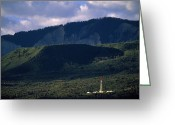 Disasters Greeting Cards - A Gas Drilling Rig At The Foot Greeting Card by Joel Sartore