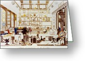 1711 Greeting Cards - A Geometry Room, 1711-14 Greeting Card by Granger