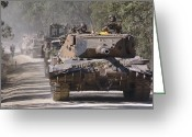 Battle Tanks Greeting Cards - A German Designed Leopard As1 Gun Tank Greeting Card by Stocktrek Images