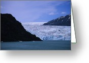 Bays Greeting Cards - A Glacier Spills Into The Prince Greeting Card by Stacy Gold