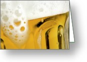 Selective Greeting Cards - A Glass Of Beer Greeting Card by Caspar Benson