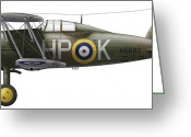 Vector Image Digital Art Greeting Cards - A Gloster Gladiator Mk Ii Greeting Card by Chris Sandham-Bailey