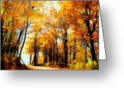 Pennsylvania Greeting Cards - A Golden Day Greeting Card by Lois Bryan