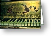 Steinway  Greeting Cards - A Golden Oldie Greeting Card by Colleen Kammerer