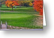 Clubs Greeting Cards - A Good Walk not Spoiled Greeting Card by Robert Harmon