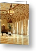 Opulent Greeting Cards - A Grand Piano Greeting Card by Rich Franco