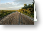 Property Released Photography Greeting Cards - A Gravel Road Leads Away From A Farm Greeting Card by Joel Sartore