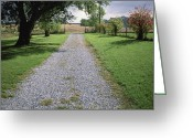 Historic Site Greeting Cards - A Gravel Road Marks The Entranceexit Greeting Card by Joel Sartore