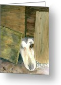 Shelter Prints Greeting Cards Greeting Cards - A great escape  variation 1 Greeting Card by Yoshiko Mishina