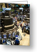 New York Signs Greeting Cards - A High Angle View Of The New York Stock Greeting Card by Justin Guariglia