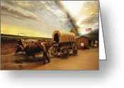 Domestic Scenes Greeting Cards - A Historical Display At The Great Greeting Card by Joel Sartore