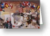 Remington Mixed Media Greeting Cards - A History of Invention Greeting Card by Chuck Hamrick