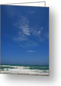 Florida Beaches Greeting Cards - A hot afternoon at the beach Greeting Card by Susanne Van Hulst