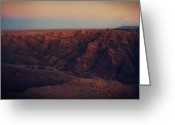 Carved Digital Art Greeting Cards - A Hot Desert Evening Greeting Card by Laurie Search