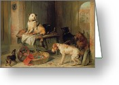 Mutt Greeting Cards - A Jack in Office Greeting Card by Sir Edwin Landseer