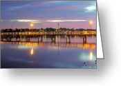 Bayview Greeting Cards - A Jetty Revealed Greeting Card by Mark Lucey