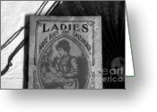 Antique Fan Greeting Cards - A Ladies Memories Greeting Card by David Lee Thompson
