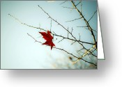 Thorns Greeting Cards - A Leaf Greeting Card by Joana Kruse