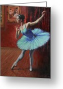 Floor Painting Greeting Cards - A Legacy of Elegance Greeting Card by Anna Bain