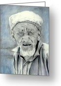 People Portraits Greeting Cards - A Life Time Greeting Card by Enzie Shahmiri