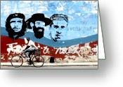 Fidel Castro Greeting Cards - A little bit of Cuba - 12 Greeting Card by Delia Ceruti