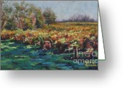 Autumn Landscape Pastels Greeting Cards - A Little Chilled Vine Greeting Card by Debbie Harding