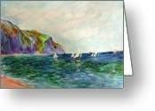 Photographs Painting Greeting Cards - A little Monet Greeting Card by Julie Lueders