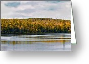 New England Autumn Greeting Cards - A Little Piece of Maine Greeting Card by Bob Orsillo