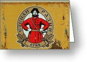 Cyrillic Greeting Cards - A Logo With Peter The Great Advertising Greeting Card by Richard Nowitz