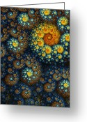 Starry Digital Art Greeting Cards - A Lone Starry Night Greeting Card by Claire Jones