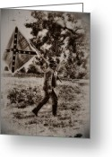 Gettysburg Greeting Cards - A Long Walk Home Greeting Card by Bill Cannon