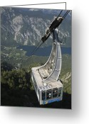 Lake Bohinj Greeting Cards - A long way down Greeting Card by Ian Middleton
