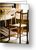 Oldfashioned Greeting Cards - A Loom For Grandma Greeting Card by Carolyn Marshall