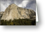 Pacific Coast States Greeting Cards - A Low Angle View Of El Capitan Greeting Card by Richard Nowitz