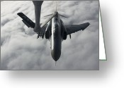 Air-to-air Greeting Cards - A Luftwaffe F-4f Phantom Ii Approaches Greeting Card by Gert Kromhout