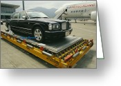 Structures Greeting Cards - A Luxury Bentley Unloaded From An Greeting Card by Justin Guariglia