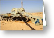 Nato Greeting Cards - A M109 Howitzer Destroyed By Nato Greeting Card by Andrew Chittock