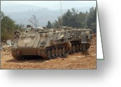 Armored Vehicles Greeting Cards - A M113 Armored Personnel Carrier Greeting Card by Andrew Chittock