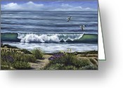 Reinhardt Greeting Cards - A Malibu Melody Greeting Card by Lisa Reinhardt