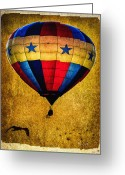 Balloon Greeting Cards - A Man and his balloon Greeting Card by Bob Orsillo