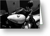 Harley Davidson Art Greeting Cards - A Mans Harley Greeting Card by David Lee Thompson